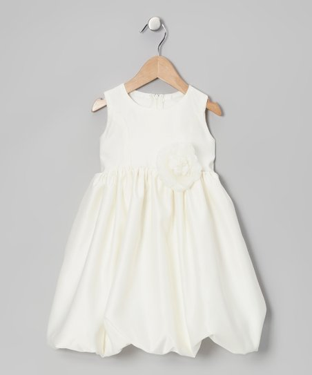 Ivory Flower Bubble Dress - Infant &amp; Toddler