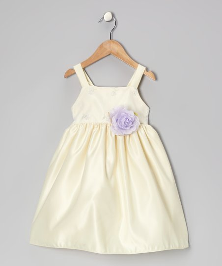 Banana & Lilac FLower Dress - Infant, Toddler & Girls
