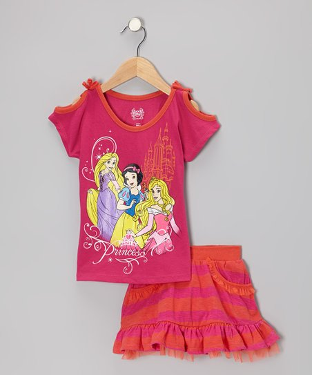 Dark Pink Princess Tee & Skort - Toddler