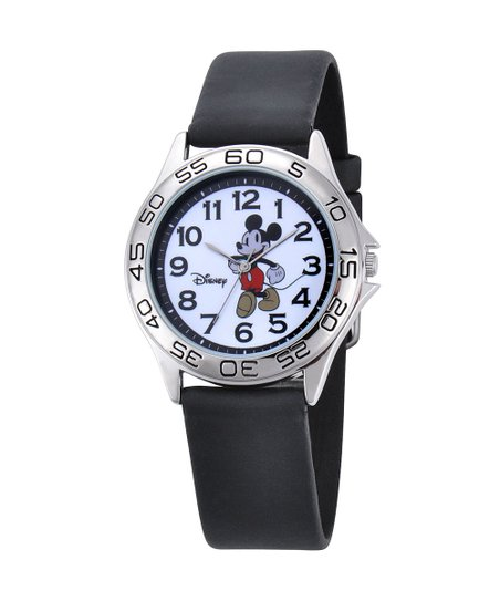 Black Vintage Mickey Mouse Watch