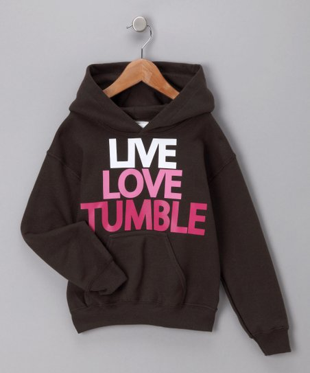 Activewear Apparel Dark Chocolate &#039;Tumble&#039; Hoodie - Girls
