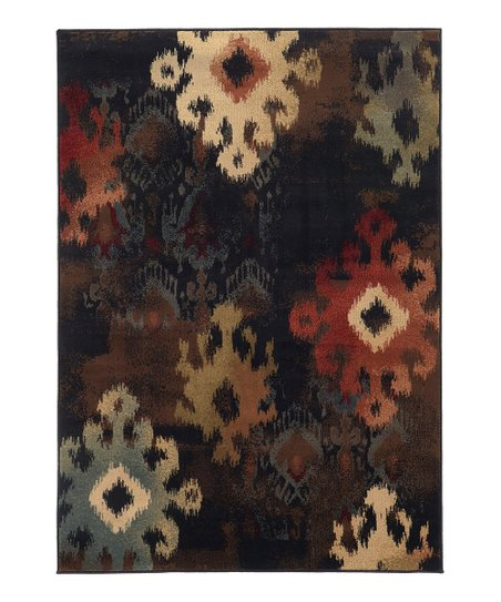 Black Leaves Chesapeake Rug