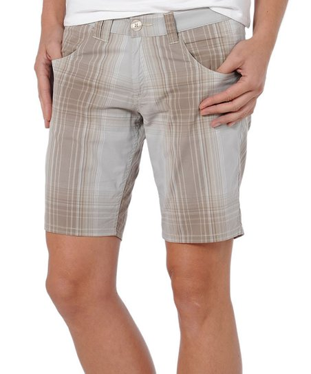 Walnut Birdwalk Organic Cotton-Blend Bermuda Shorts