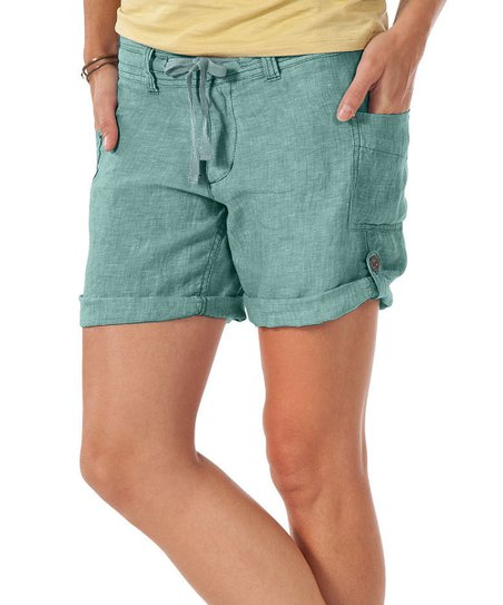 Old Slate Lithe Linen Shorts