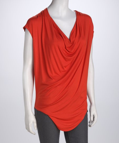 Orange Drape Top
