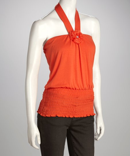Orange Halter Top