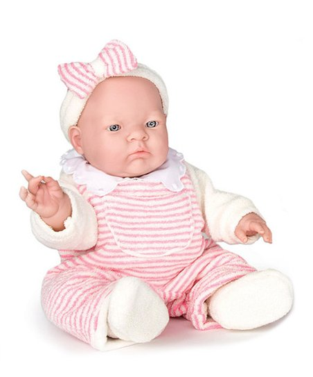 Pink Stripe Lily Doll