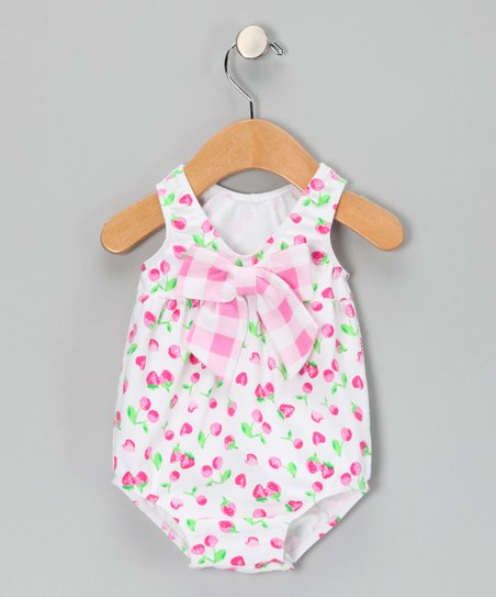 Pink Strawberry Bodysuit - Infant
