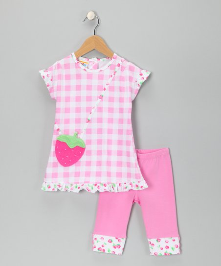 Pink Strawberry Tunic & Leggings - Infant, Toddler & Girls