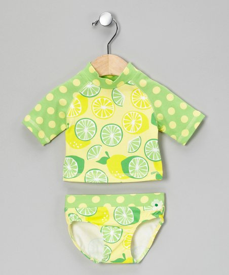 Lemon &amp; Lime Rashguard Set - Infant, Toddler &amp; Girls