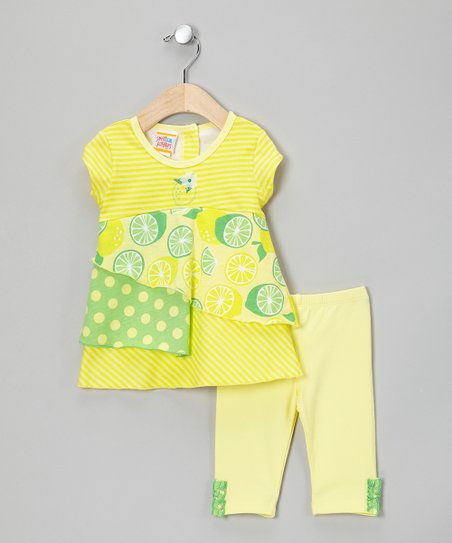 Lemon & Lime Tiered Tunic & Leggings - Infant, Toddler & Girls