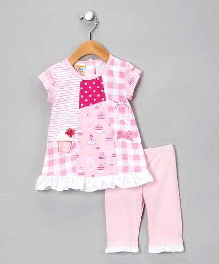 Pink Cake Patchwork Tunic &amp; Leggings - Infant, Toddler &amp; Girls