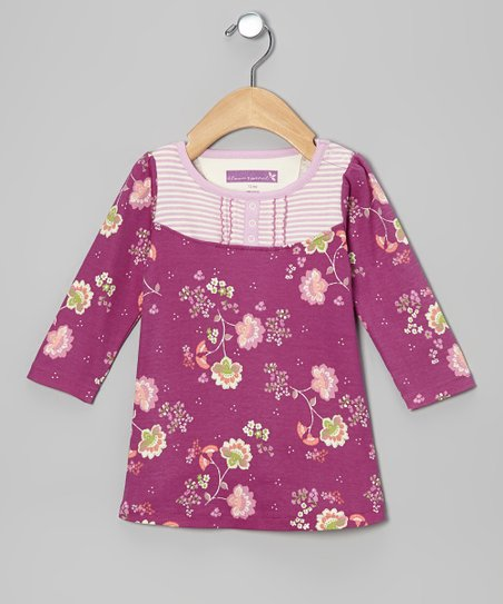 Purple Wine Blooming Spring Dress