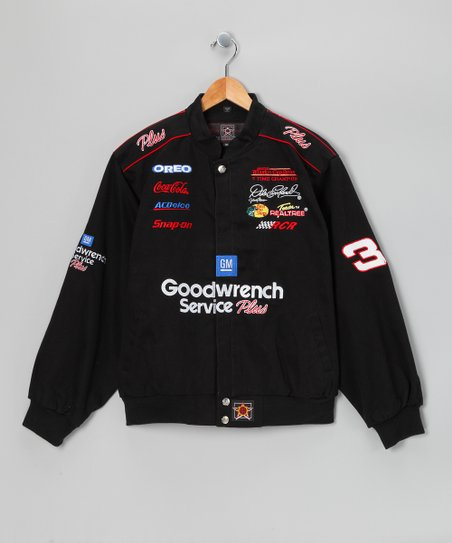 Black Dale Earnhardt Sr. Jacket - Kids