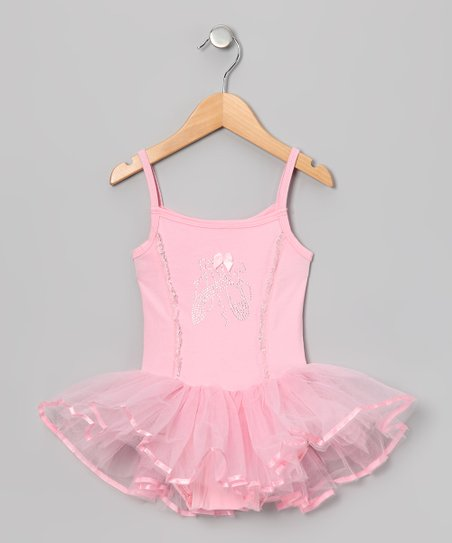 Pink Rhinestone Skirted Leotard - Infant, Toddler & Girls
