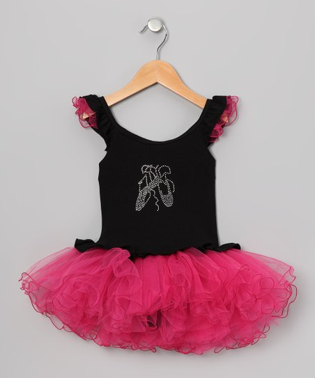 Black Rhinestone Skirted Leotard - Infant, Toddler &amp; Girls