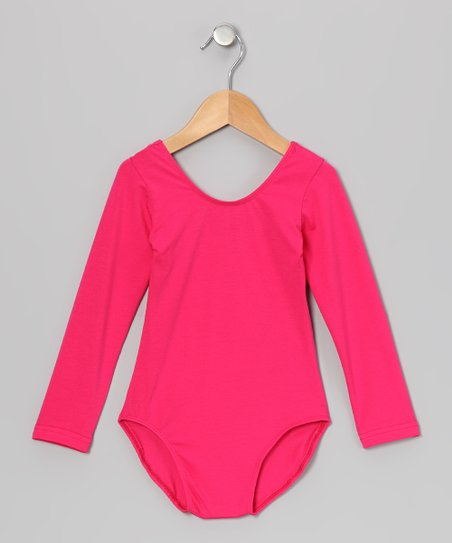 Hot Pink Long-Sleeve Leotard - Infant, Toddler & Girls