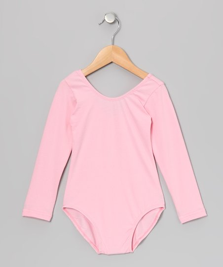 Pink Long-Sleeve Leotard - Infant, Toddler & Girls