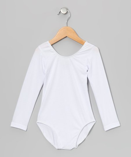 White Long-Sleeve Leotard - Infant, Toddler & Girls