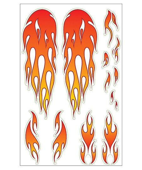 Flames Bike Sticker Pack