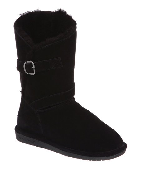 Black Suede Tatum Boot - Women