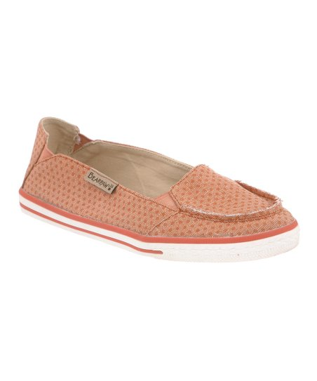 Tangerine Polka Dot Erica Slip-On Sneaker - Women