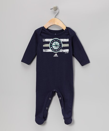 Navy Seattle Mariners Footie - Infant