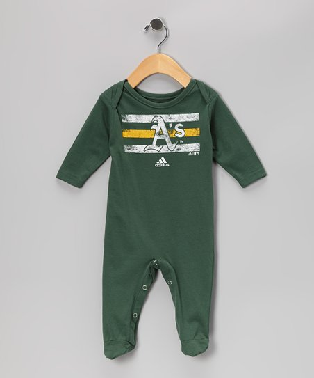 Green Oakland Athletics Footie - Infant