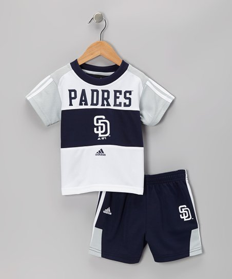 Gray San Diego Padres Tee & Shorts - Infant & Toddler