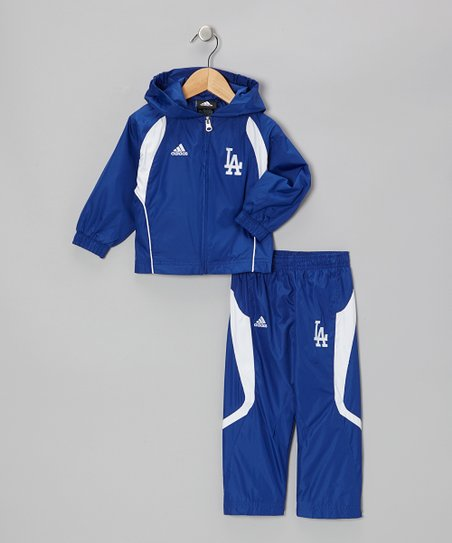 Blue Dodgers Hooded Jacket & Pants - Toddler