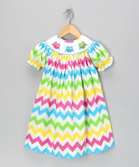 Rainbow Zigzag Bishop Dress - Infant & Toddler
