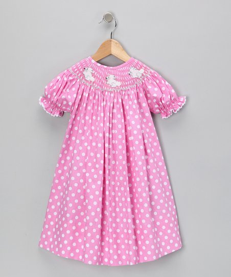 Pink Polka Dot Bishop Dress - Infant, Toddler & Girls