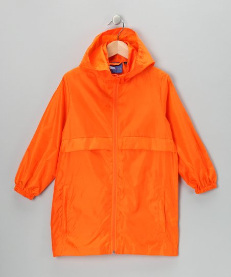Sunny Orange Packable Raincoat
