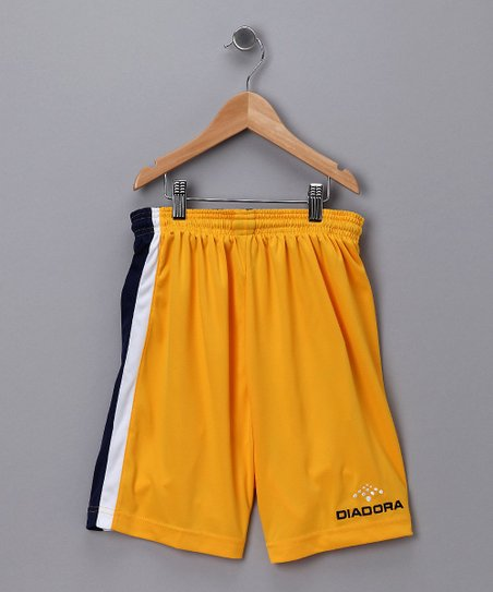 Gold & Navy Serie A Shorts - Kids & Men