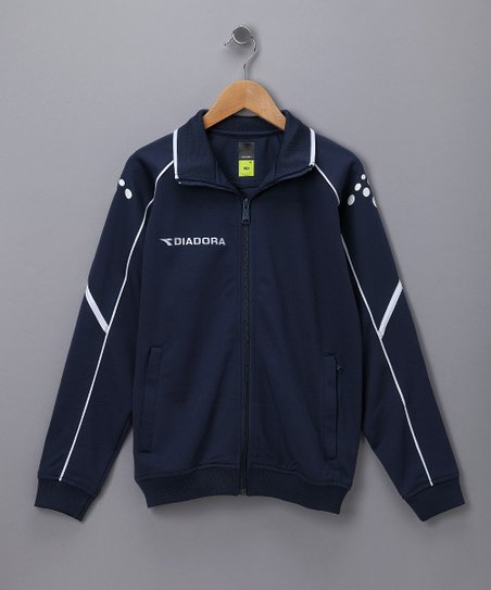 Navy Squadra Track Jacket - Kids & Men