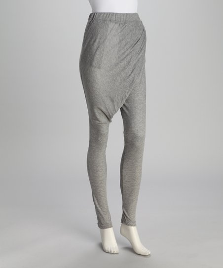 Medium Gray Cropped Harem Pants