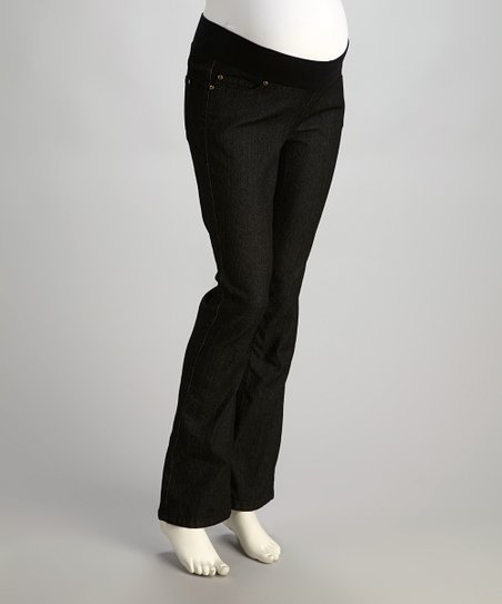 Black Denim Under-Belly Maternity Jeans - Women