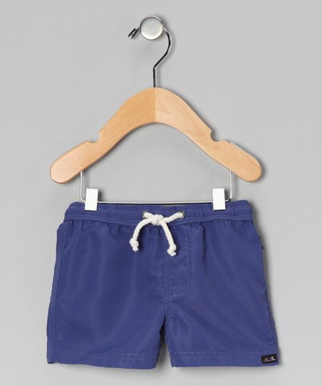 Blue Microfiber Shorts - Infant, Toddler & Boys