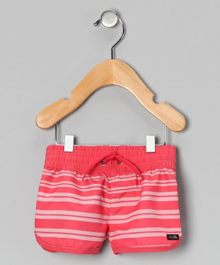 Pink Stripe Shorts - Infant, Toddler & Girls