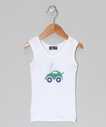 White Car Tank - Toddler & Boys