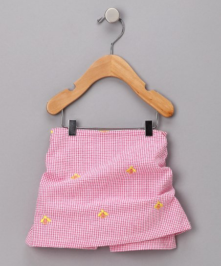 Pink Bumblebee Seersucker Skirt - Toddler & Girls