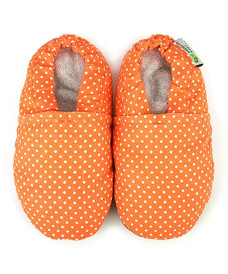 Orange Polka Dot Booties