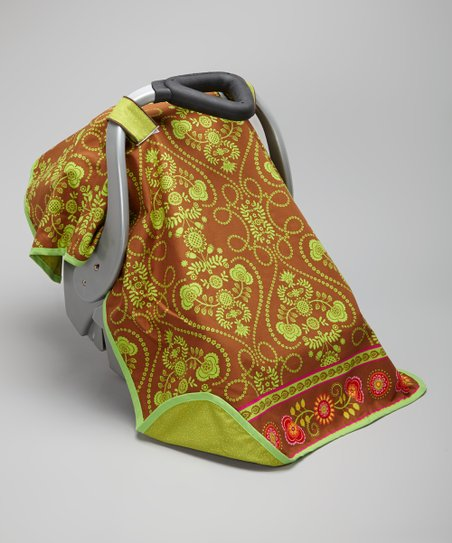 Green Border Fun Car Seat Canopy