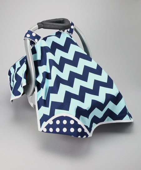 Crazy Blue Car Seat Canopy