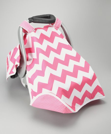 Crazy Pink Car Seat Canopy