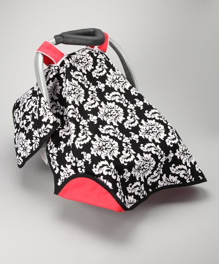 Black Damsel Car Seat Canopy