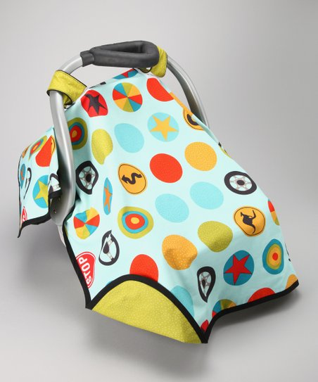 Light Blue Peak Hour Car Seat Canopy