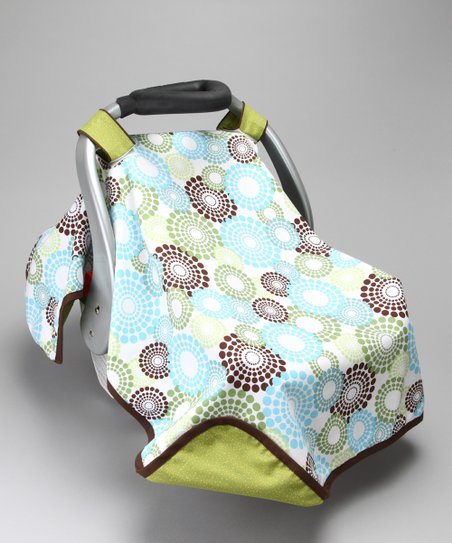 Green Round About Car Seat Canopy