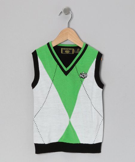 Green Argyle Sweater Vest - Infant & Toddler