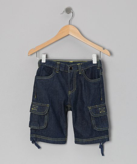 Medium Wash Cargo Shorts - Infant & Toddler